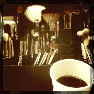 Brushes and coffee! Always.