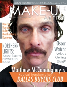 Dallas Buyers Club cover of Make-Up Artist Magazine