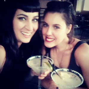 Martina & Jen wisely have a margarita before shopping