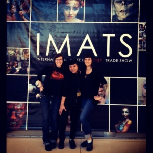 The ladies of Cirque FX and I SURVIVED the IMATS! Now, let's get a cocktail and look at all of our loot...