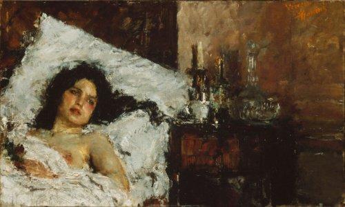 Resting, Antonio Mancini