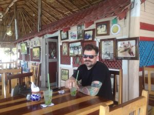 He's just the best. Here he is on vacation in Mexico, before we delved into the massive organization project.