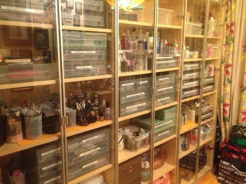 Landscape of shelves