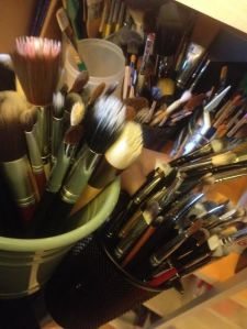 The great thing about having someone help clean all of your dirty brushes is how much time it saves you. The bad thing is that he now knows JUST how many brushes I own.