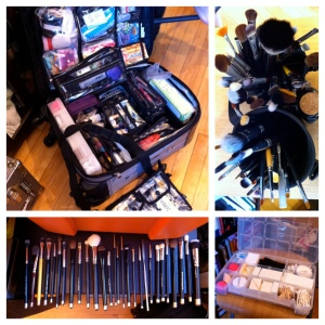 The freelance makeup kit that served me well for years. This suitcase was the perfect solution for me.